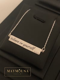 "Sterling Silver ""Believe in yourself"" CZ Necklace Kitchener, N2E 2A3"