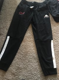 Out Here Balling (OHB) Chris brown black pyramid  jacket and sweat pants both XL Anaheim, 92801