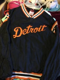 Blue and brown Detroit jacket