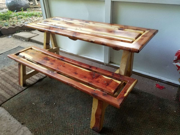 Awe Inspiring Cedar Bench That Converts Into A Picnic Table All Pdpeps Interior Chair Design Pdpepsorg