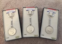 Genuine john f kennedy half dollar keychains - vintage- new old stock! Laurel, 20707