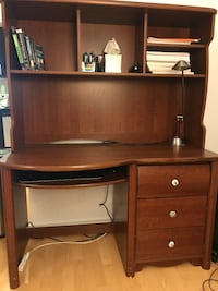 Wooden desk with hutch and lamp Toronto, M5V 2M7