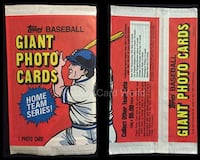 1981 Topps Baseball Giant Photo 5x7 Card Sealed Pack Montréal, H1R 2E6