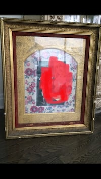 Antique gold leaf extra large picture frame with glass Toronto, M5H