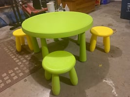 CHILDRENS MAMMUT TABLE AND CHAIR SET