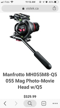 Manfrotto head and Slider Toronto, M3N