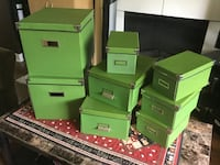 8 IKEA Media Boxes with lids (green only - includes fasteners) Surrey, V4N 5S1