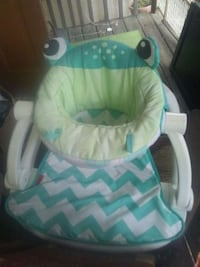 baby's white and teal bouncer Phenix City, 36870