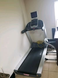 Commercial grade treadmill with installed cardio theatre