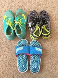 Nike sneakers and under armour foam sliders $5 each size 6 Frederick, 21704