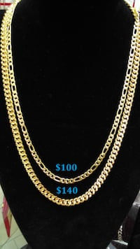 18K Gold PVD Plated Chains Mississauga