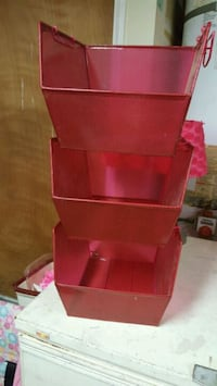 red wooden 3-layer shelf Palmdale, 93552