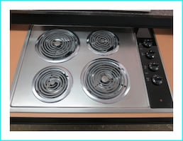 GE Stainless electric cook-top
