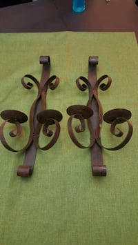 brown metal wall mount candle holder Lancaster, 93534