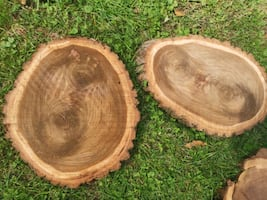 wood round slabs walnut
