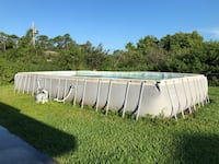 white and gray above ground pool Port Saint Lucie, 34953