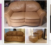brown leather tufted sofa chair White Plains, 20695