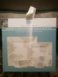Martha Stewart Collection Lisbon 4 Piece Square Place Setting- NEW