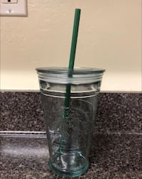 Rare Collectible 16oz Starbucks Recycled Glass Cold Cup Bakersfield, 93314