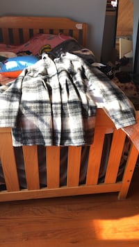 gray and black plaid button-up jacket Los Angeles, 91307