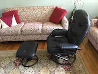 black leather office rolling armchair Vienna, 22180