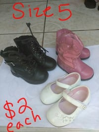 two pairs of brown and pink leather boots Santa Maria, 93458