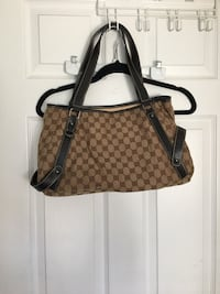brown and black monogrammed Coach leather tote bag Innisfil, L9S 2A3