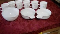 microwave safe mugs and   2 bowls