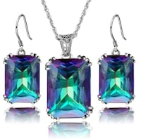Sterling Silver Mystic Topaz Jewelry Set San Antonio, 78213