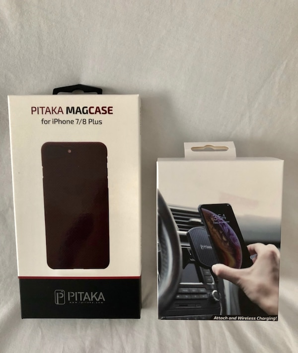 wholesale dealer afaeb 38bb7 PITAKA MAGCASE AND CD SLOT WIRELESS CHARGER QI IPHONE 8 PLUS