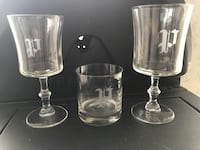Crystal glass set/Vintage etched with the letter P Fort Myers, 33919