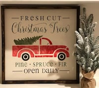 Hand stenciled and painted Christmas sign St Catharines, L2N 7M3