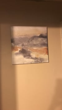 gray and white painting