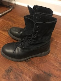 Timberland leather black boots-37
