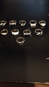 New ..gold colored rings.,