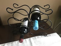 Black Metal Wine Rack Greater Sudbury / Grand Sudbury, P0M 1L0