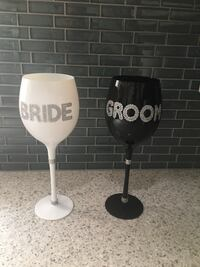 Wedding Bride and Groom Wine Glass Set Oyster Bay Cove, 11771