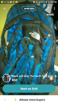 blue and black The North Face backpack screenshot Falls Church, 22046