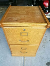 Two-drawer file cabinet