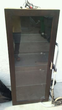 brown wooden framed glass display cabinet San Leandro, 94578