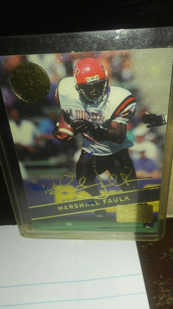 Marshall Faulk Signature Rookie Card 57 Of 169