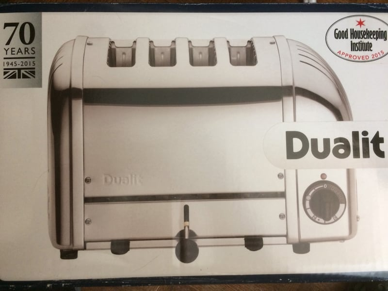 Over 25% off -   RED - Dualit 4-Slice Toaster - Never Been Used 74b6ec1e-08ea-4a6c-b267-2b6a622abf33