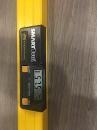 Yellow and black Smart tool level