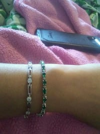1 diamond bracelet. 1 diamond and emerald bracelet Hamilton, L9C 2T9