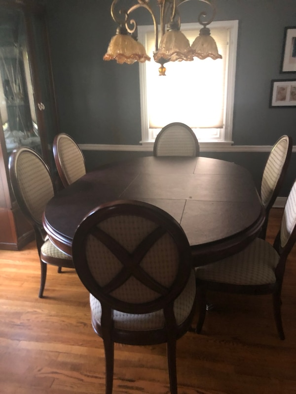 Used Cherry wood Thomasville dining room set for sale in ...