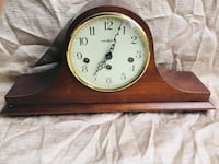 Brown and white analog clock Annandale, 22003