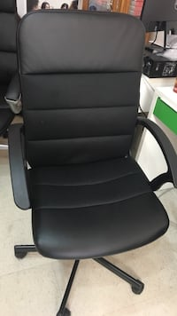 black leather office rolling armchair Vancouver, V5V 3R3