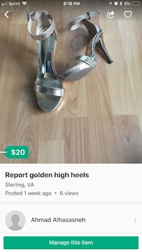 pair of gray open-toe ankle strap heels Reston, 20190