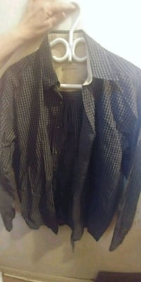 black and white plaid dress shirt Winnipeg