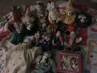 assorted clown doll collection Stanton, 40380